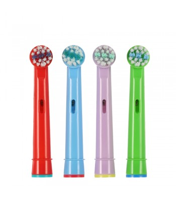 4 Pack of Oral B Compatible Childrens Toothbrush Heads