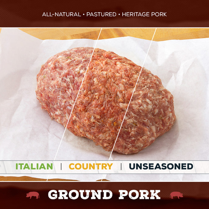 Ground Pork - 1 lb | All-Natural Heritage Pork