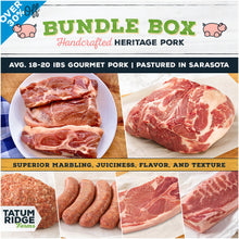 Load image into Gallery viewer, 1/8th Gourmet Heritage Pork Bundle Box