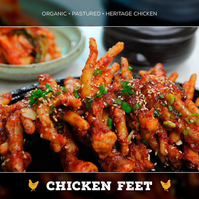 Chicken Feet - 1/2lb - Cleaned, Organic & Pastured
