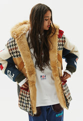 Grebes Oversize Faux Fur Lined Jacket