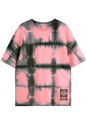 Zircon Tie Dye Check T-shirt