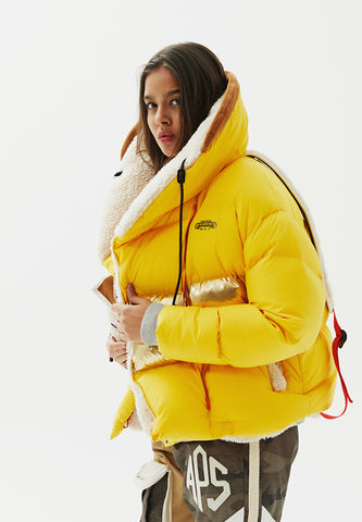 Elaenia Cropped Puffer Down Jacket