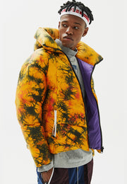 Mallard Tie-Dye Padded Down Jacket