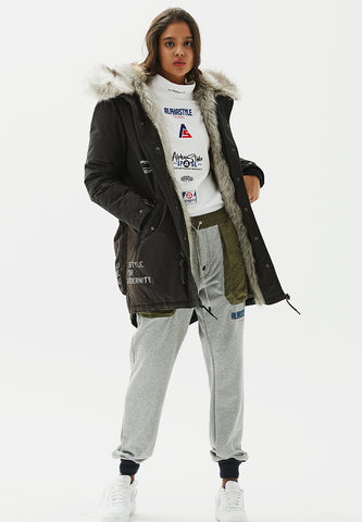 Bunting Faux Fur Padded Parka