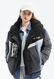 Lyra Vegan Sherpa Lined Cropped Puffer Jacket