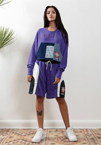Trona Cropped Long Sleeves T-Shirt