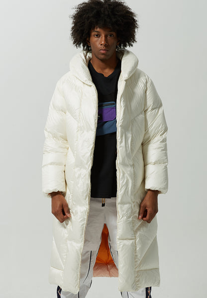Cappy Solid Puffer Down Coat