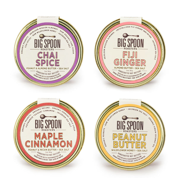 Big Spoon Roasters 3oz Nut Butter Variety 4-Pack