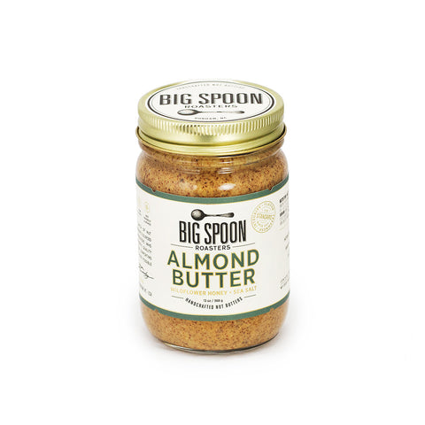 Jar of Big Spoon Roasters palm oil-free Almond Butter