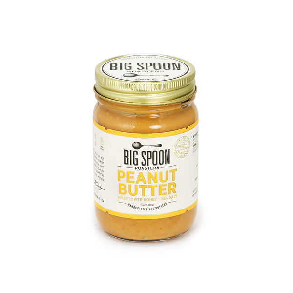 Jar of Big Spoon Roasters palm oil-free Peanut Butter
