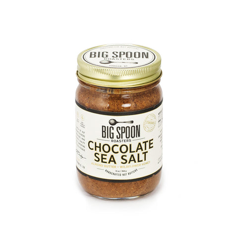 Jar of Big Spoon Roasters palm oil-free Chocolate Sea Salt Almond Butter