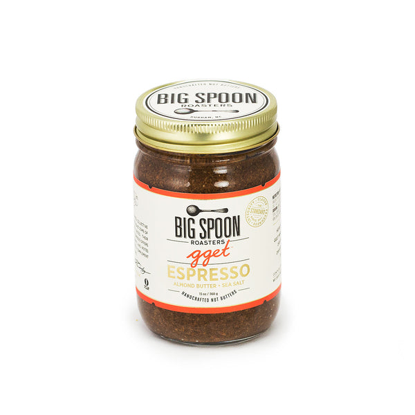 Jar of Big Spoon Roasters palm oil-free GGET Espresso Nut Butter