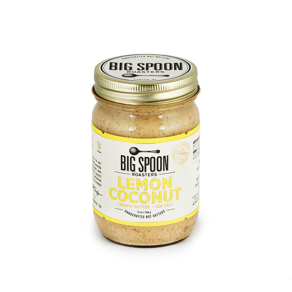 NEW Lemon Coconut Cashew Butter with Sea Salt