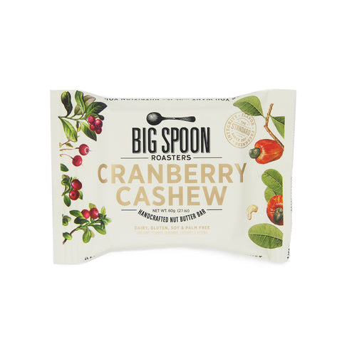 Big Spoon Roasters Cranberry Cashew Handcrafted Nut Butter Bar