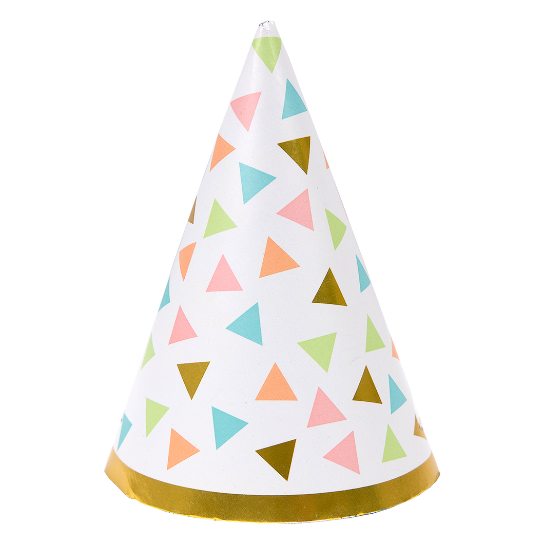 Pastel & Gold Confetti Doggie Birthday Hat
