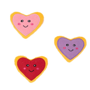LOVE & HEARTS Dog treats and plush set