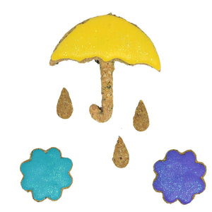 April Showers Bring May Flowers Dog Treats Set
