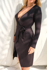 Farrah Wrap Dress Midnight - THIS IS A LOVE SONG Indonesia
