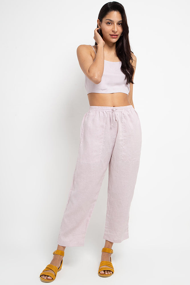 Cora Linen Pants Lilac - thisisalovesong-id