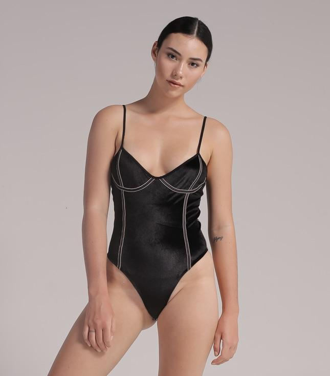 Cala Bodysuit (Black Velvet) - THIS IS A LOVE SONG Indonesia