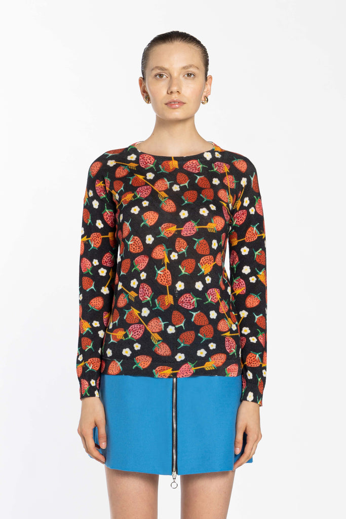 Cashmere Slim Roundneck - Strawberry