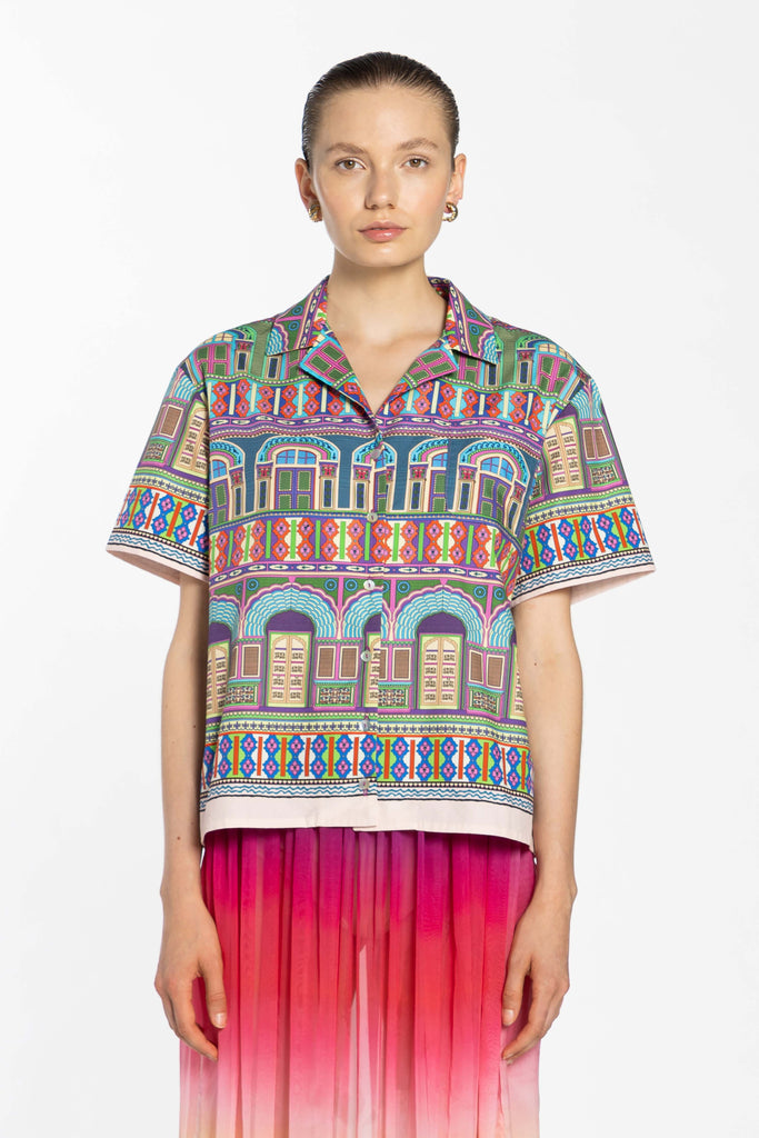 Boxy Cotton Shirt - City Peech