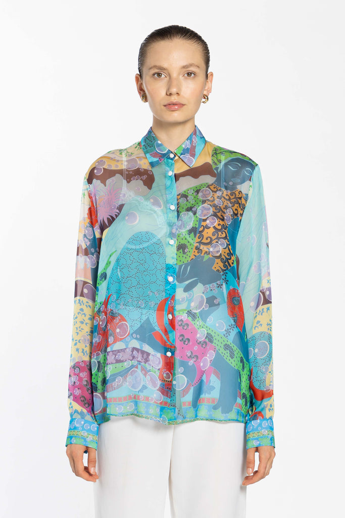 Chiffon Oversize Shirt - Indian Venus