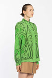 Oversize Silk Shirt - Vegetable