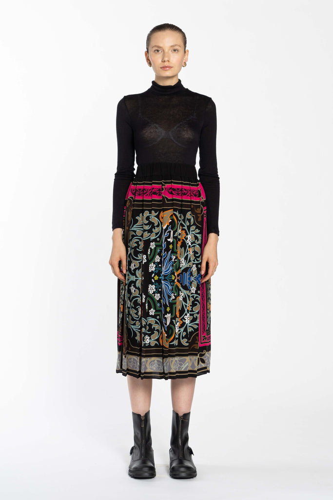 Pleated Silk Skirt - Liberty