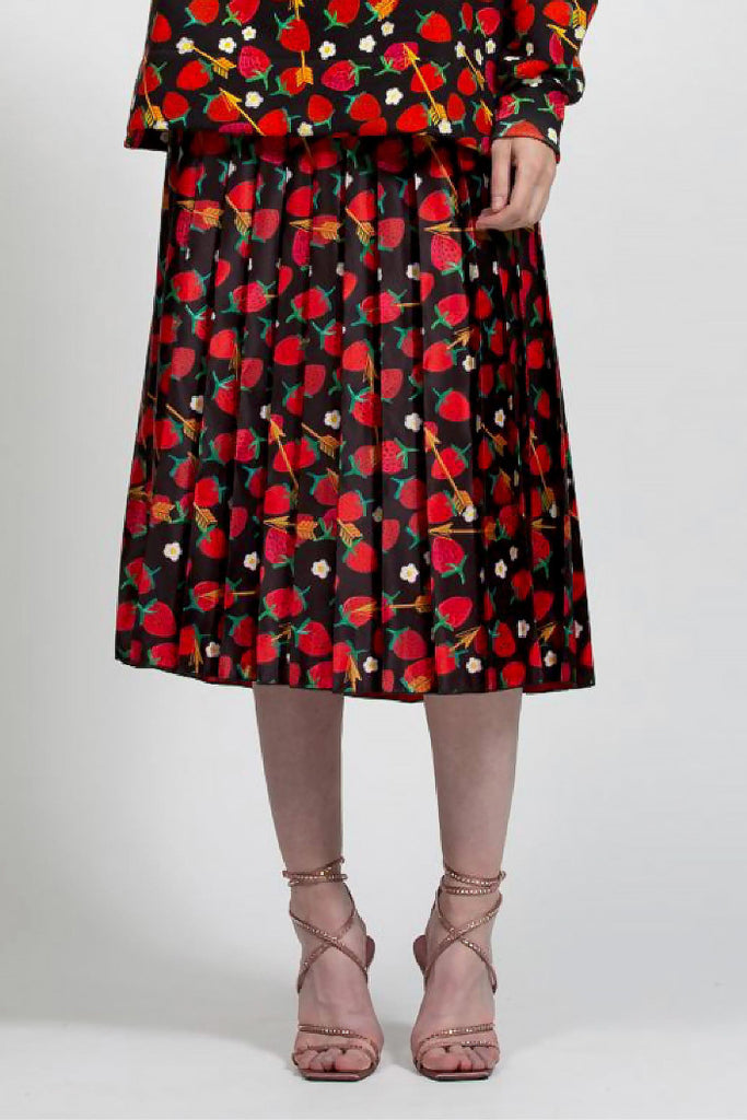 Pleated Skirt - Strawberry