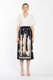 Pleated Silk Skirt - Water Peech