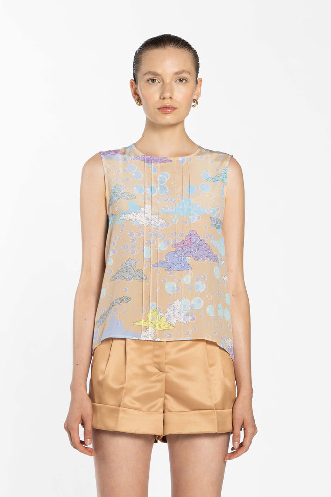 Sleeveless Top - Gold Sky