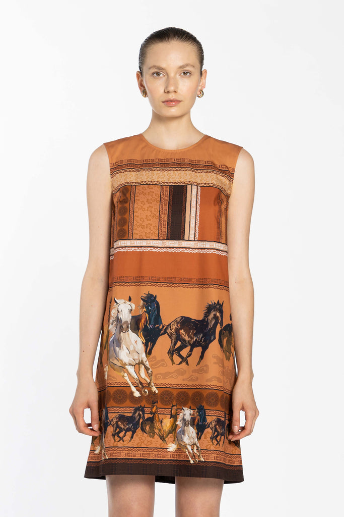 Sleeveless Dress - Horses