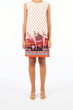 Sleveless Dress - Camel Red