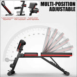 4in1 Multifunctional Foldable Dumbbell Bench - Gym Equipment