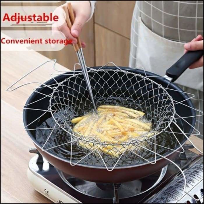 Foldable Frying Basket Fruit And Vegetable Strainer - 100003246