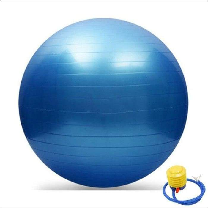 65CM GYM Yoga Fitness Ball - Blue / China - Gym Equipment
