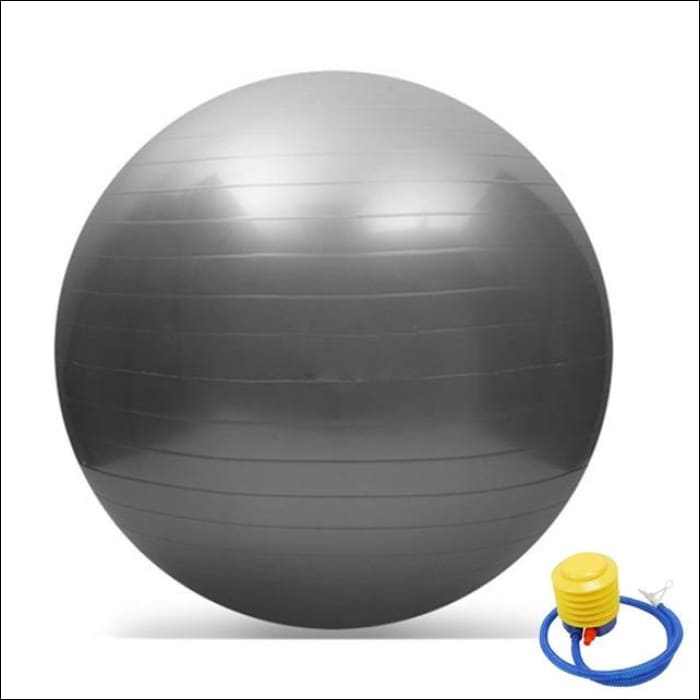 65CM GYM Yoga Fitness Ball - Gray / China - Gym Equipment