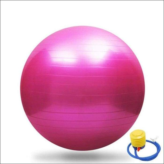 65CM GYM Yoga Fitness Ball - Pink / China - Gym Equipment