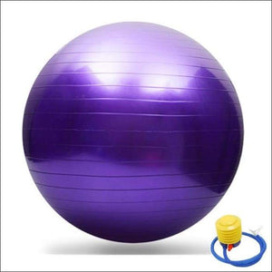 65CM GYM Yoga Fitness Ball - Purple / China - Gym Equipment