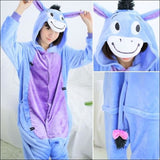 Adult Animal One Piece Unisex Pajamas - Donkey / S