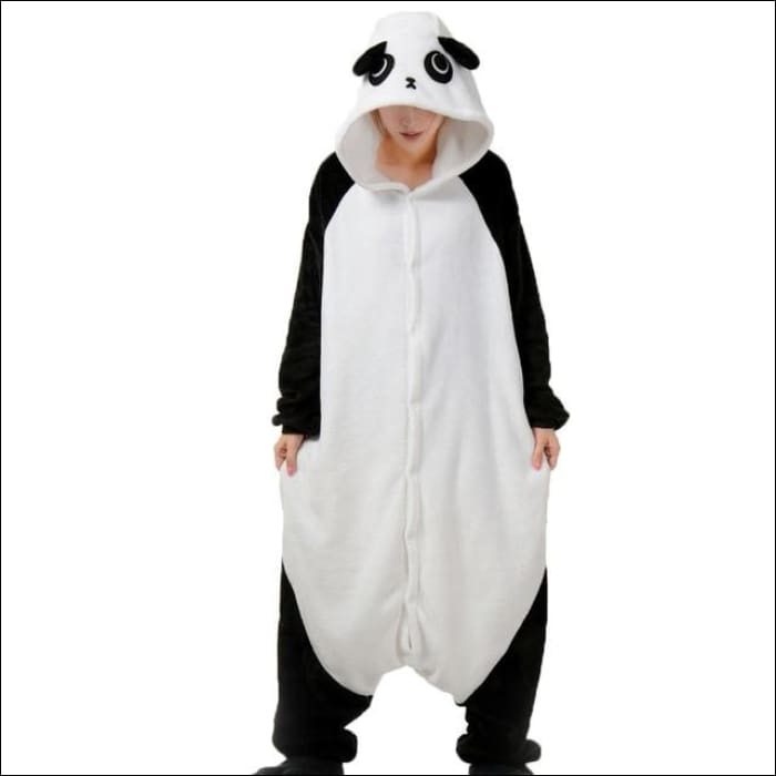 Adult Animal One Piece Unisex Pajamas - panda gf / S