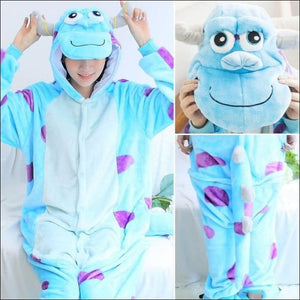 Adult Animal One Piece Unisex Pajamas - Sullivan / S