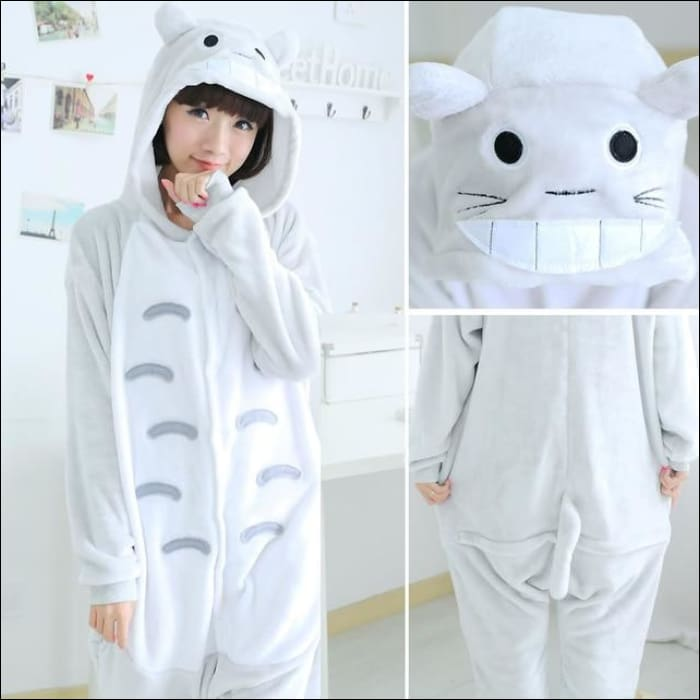 Adult Animal One Piece Unisex Pajamas - Totoro / S