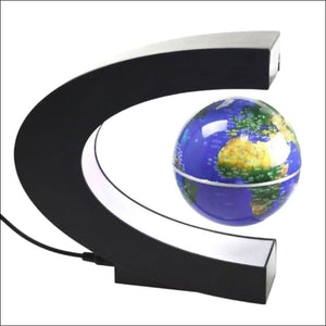 C Shaped LED World Map Home Decor Magnetic Floating Globe