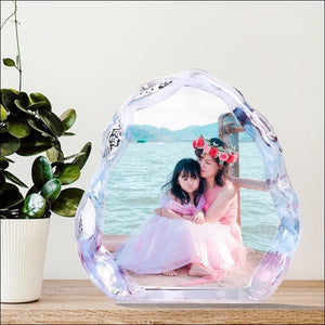 Customized Crystal Photo Frame For Christmas Birthday Or Wedding Gift