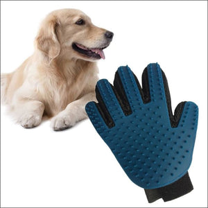 Dog Grooming Glove - blue / Left Hand