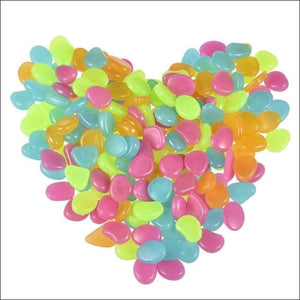 Glow In The Dark Pebbles - Colorful