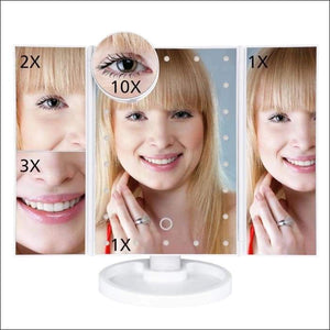 Makeup Mirror With LED Touch Screen